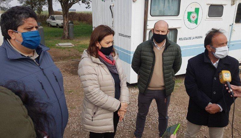 Federico Bogarín en importante reunión en el Puesto Caminero Trebolares